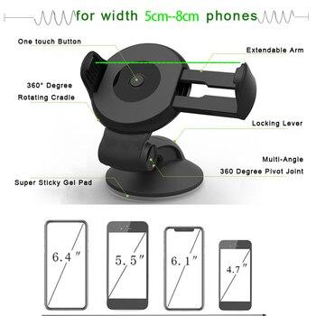 Suporte Porta Celular For Samsung iPhone Huawei Telefon Cell Soporte Movil Auto Mobile Phone Stand Car Holder Smartphone Voiture 2