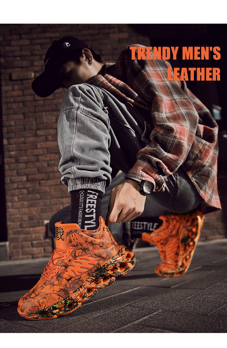 H89c2722fcb3d4d86bc9d3cb916cf0817G Fashion Men's Hip Hop Street Dance Shoes Graffiti High Top Chunky Sneakers Autumn Summer Casual Mesh Shoes Boys Zapatos Hombre