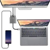 3 in 1 USB 3.1 HUB Converter Aluminum Alloy Installa Remove Convenient Simple USB3.0 Type C PD 4K HDMI Adapter-in Laptop-Docking-Stationen aus Computer und Büro bei