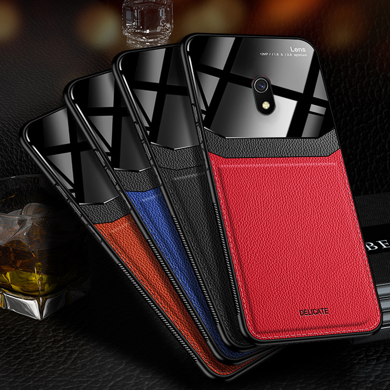 Camera Lens Protection Soft Leather Phone Case for Xiaomi Redmi 8A Note 8 Pro Mi 8 Lite Mi8 Note8 Note8pro TPU Protective Cover