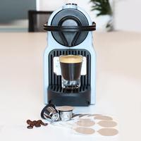 Reusable Coffee Capsule Powder Hammer Spoon Brush Set For DELTA Q NDIQ7323 EP MINI Machine Tools Coffeeware Set