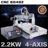 [EU 납품] 6040 4 축 USB Mach3 2.2KW 2200W 수냉식 스핀들 모터 CNC 라우터 조각 밀링 머신 220V