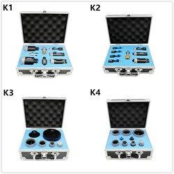 DT-DIATOOL, 1 комплект, в коробке, M14, вакуумная пайка, алмазные сверла, коронки, смешанные размеры, Набор отверстий для фарфоровой плитки, гранита, ...