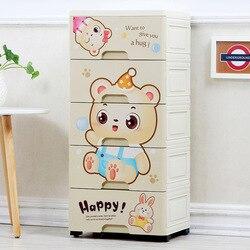 Cartoon kinderen Garderobe Lade Ontvangst Kast Opbergdoos Plastic Babygarderobe Baby Cartoon Ondergoed Plastic Garderobe