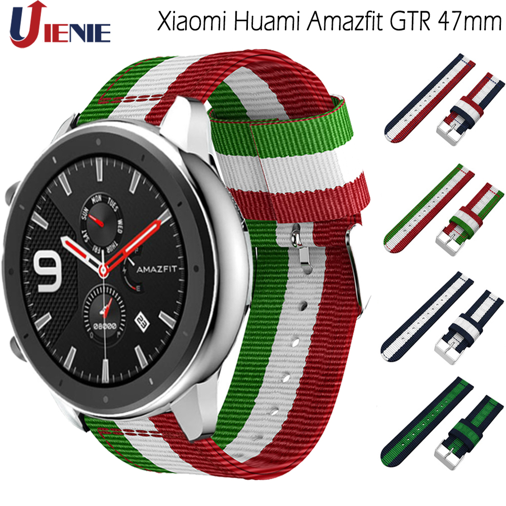 For Xiaomi Huami Amazfit GTR 47mm Nylon Strap Sport Watch Band 22mm For Galaxy Watch 46mm Samsung Gear S3 Wristband Correa