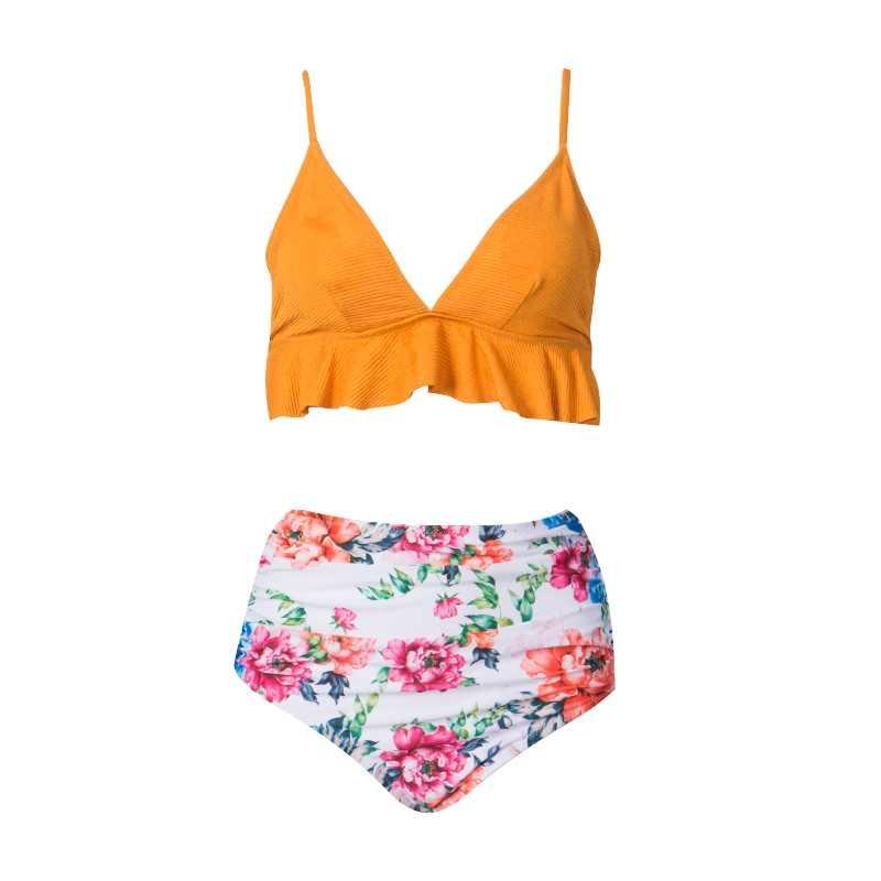 2020 セクシーなビキニパッド入り黄色マイクロビキニセットキャンディーカラーツーピースブラジル水着水着女性水着