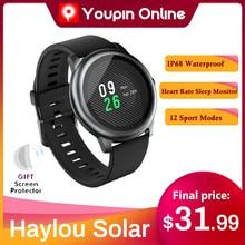 הגלובלי גרסה YouPin Haylou שמש LS05 חכם שעון ספורט מתכת עגול מקרה קצב לב צג שינה IP68 עמיד למים iOS אנדרואיד