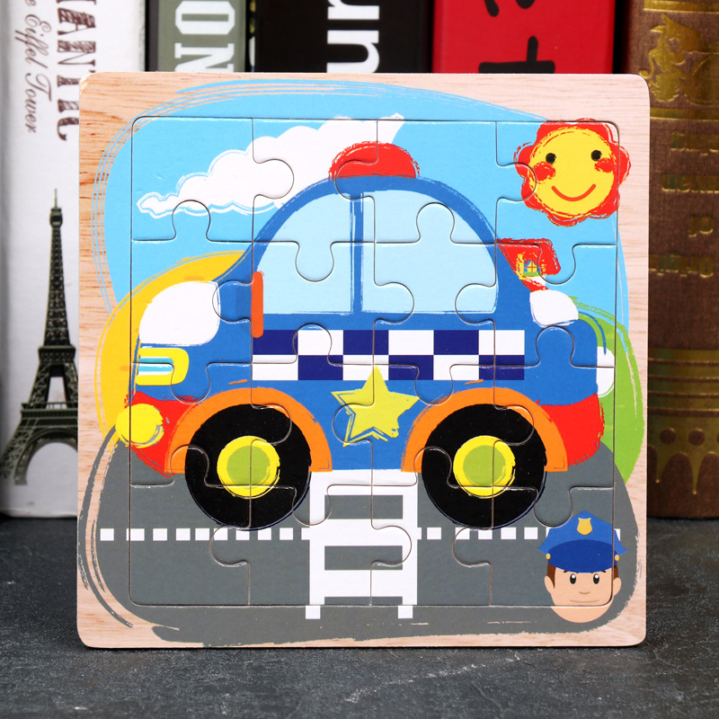 Wood Puzzles Children Adults Vehicle Puzzles Wooden Toys Learning Education Environmental Assemble Toy Educational Games 11