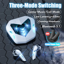 Gaming Headsets 65ms Low Latency TWS Bluetooth 5.1 Headphone Sports Waterproof Wireless Earphone Noise Cancelling Earbuds Gamer