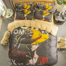 Winter flannel bedding set Duvet Covers ONE PIECE Monkey D. Luffy Anime comforter bedding sets bedclothes bed linen(NO sheet)(China)