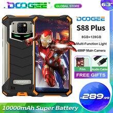 Doogee s88 além de telefone móvel áspero 48mp câmera principal 10000mah super bateria 8 + 128gb android 10 ip68/ip69k versão global telefone