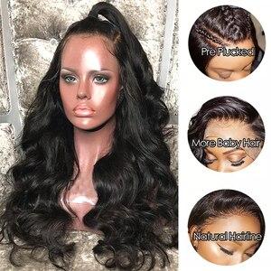 Image 3 - 360 תחרה פרונטאלית פאה עם תינוק שיער רמי ברזילאי גוף גל 150% 13x4 תחרה מול שיער טבעי פאות 4x4 סגירת פאות