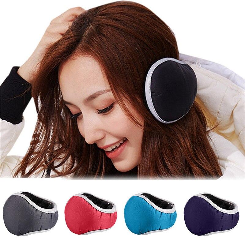 Winter Unisex Casual Warm Ear Muffs Earflaps Women Man Girls Flannel Fur Thicken Earmuffs Foldable Ear Warmer Cover #40