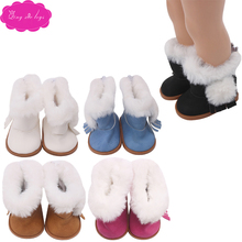 18 inch Girls doll shoes winter snow boots fur boots American newborn shoe Baby toys fit 43 cm baby dolls s151 18 inch girls doll shoes winter woolen slippers casual shoe american newborn accessories baby toys fit 43 cm baby dolls s129
