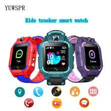 """Tracker Children Smart Watches Waterproof LBS Positioning 1.44"""" Touch Screen Camera Fashlight IOS Android Kids Smart Clock Q19"""