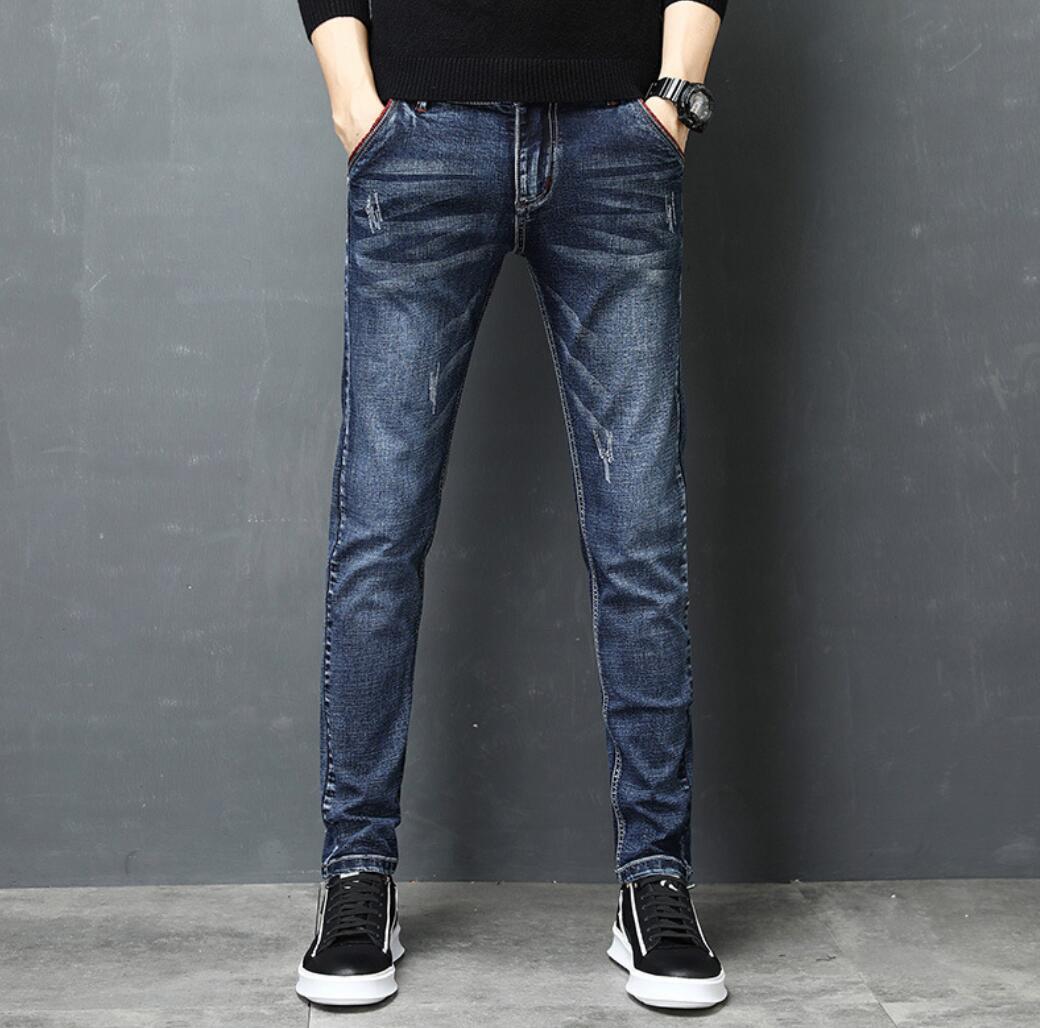 New Autumn Men's Jeans 2020 New Slim Feet Pants Maa1 Youth Men's Casual Jeans KK9001-kk90019