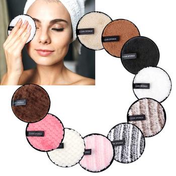Zmywacz do makijażu z mikrofibry wielokrotnego użytku Puff zmywalne płatki kosmetyczne ręcznik do czyszczenia twarzy chusteczki do makijażu dyski zdrowa skóra dwuwarstwowa tanie i dobre opinie CN (pochodzenie) 12cm 1 3Pcs Makeup Remover Pads Demakijażu Microfiber