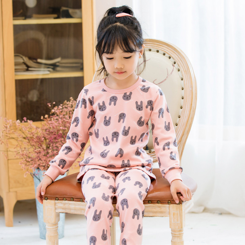 Autumn winter toddler pajamas for girls cotton baby long-sleeves children clothes sets cartoon sleepwear kids boys pyjamas