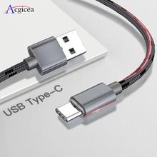 Cable USB tipo C de carga rápida para móvil, Cable de datos USB tipo C de 2,4 a para Samsung S9, S8 Plus, Note 9, 8, Huawei, Xiaomi Redmi Note 7