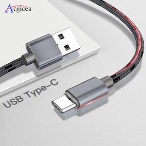 Image 1 - Cable USB tipo C de carga rápida para móvil, Cable de datos USB tipo C de 2,4 a para Samsung S9, S8 Plus, Note 9, 8, Huawei, Xiaomi Redmi Note 7