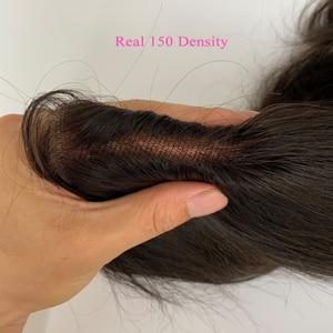 Image 5 - 7 × 7 実体波レースの閉鎖 150 密度ベビーヘアーナチュラルヘアラインと事前摘み取ら Queenlike ブラジルの Remy 毛 7 × 7 閉鎖