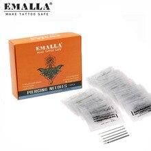 EMALLA 100PCS Piercing Needles 12/14/16/18/20G Disposable Tattoo Needles For Nose Ear Lip Nipple  Piercing Tools Free Shipping free shipping 10pcs mx25l3205amc 20g 25l3205amc 20g
