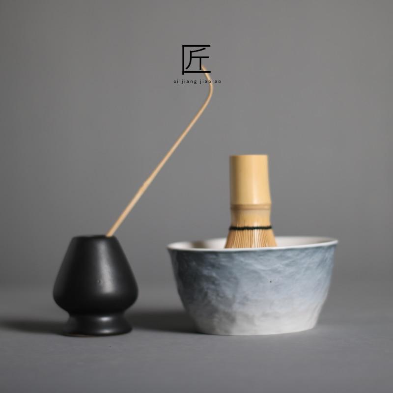 Японский чаша для маття чашки Arahake ложка w/ 100 рассчитывать венчик Чай церемонии подарочный набор