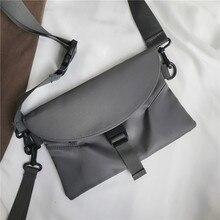 Fashion Shoulder Bag Waterproof Nylon Composite Canvas Shopping Reusable Light Messenger Simple Solid Color Envelope
