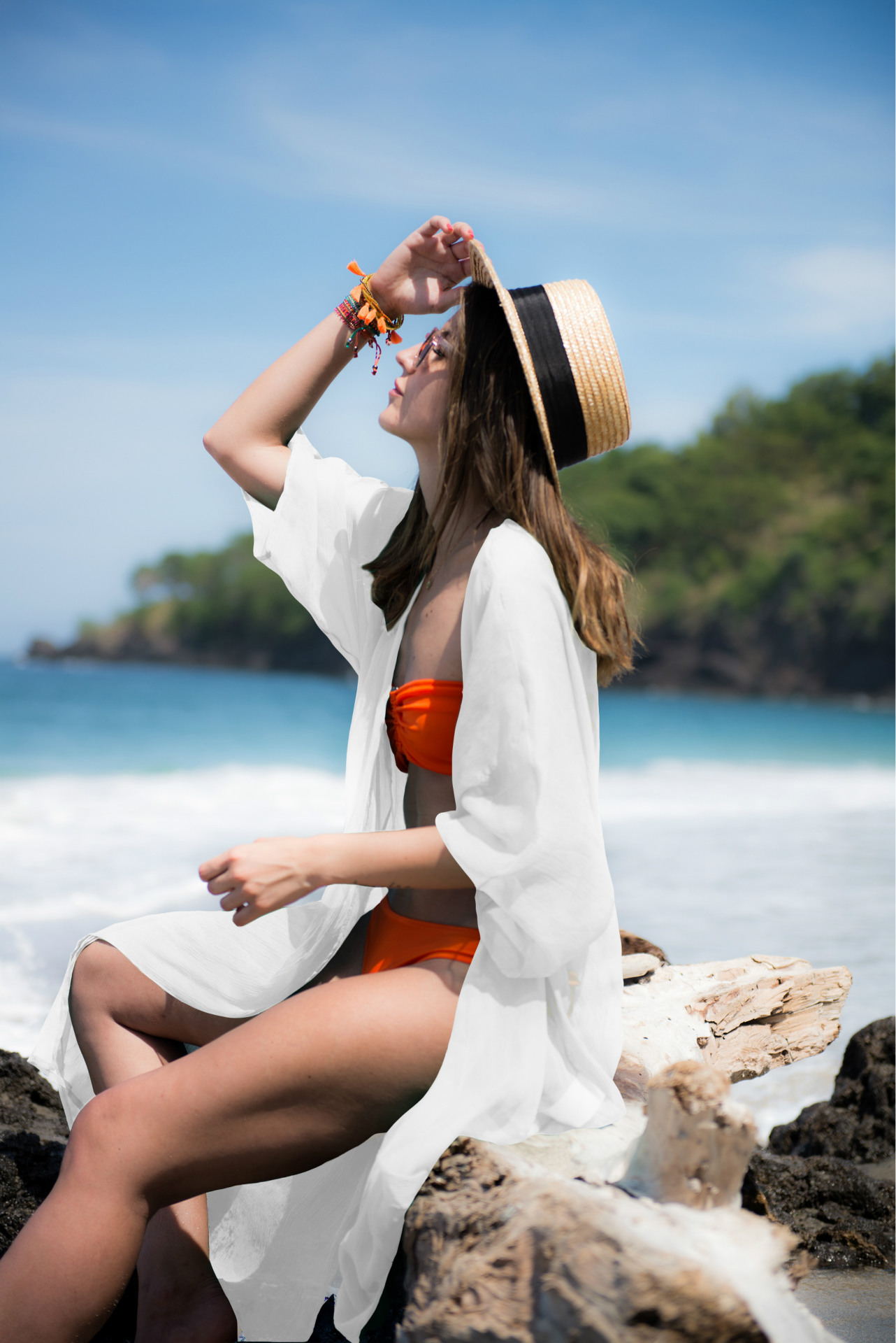 Europe And America Pure Chiffon Cardigan Beach Skirt Long Skirts Bikini Bathing Suit Outer Blouse Holiday Skirt Seaside Sun Shir