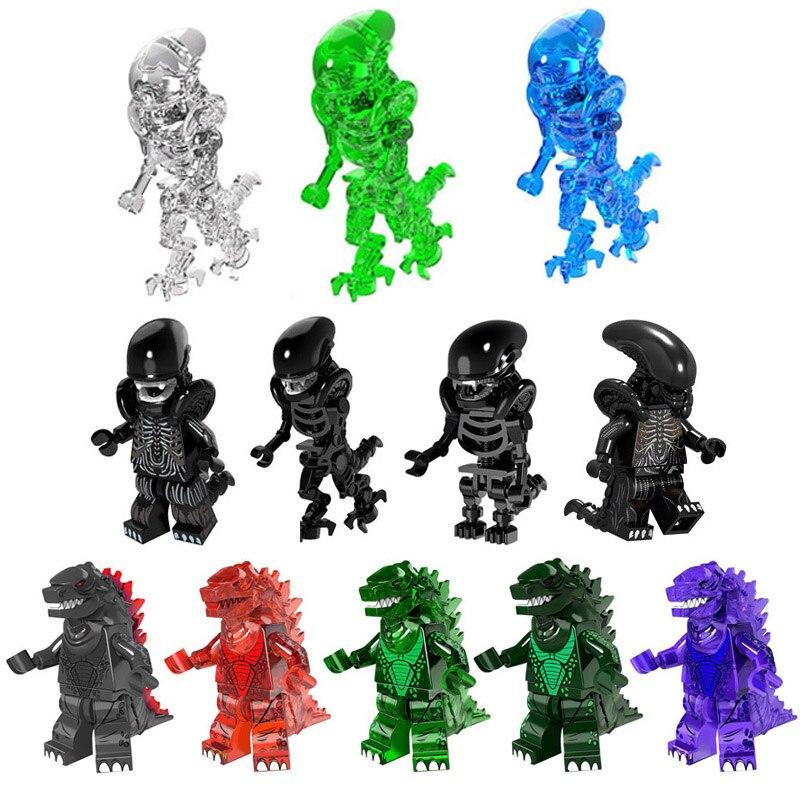 Monster Building Blocks Toy Super Hero Series Alien And Predator Giant Monster Mazinger Figure  Brick Toy For Children