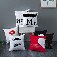Travesseiro decorativo fuwatacchi sr.  almofada de decoração para o dia dos namorados capa de proteção