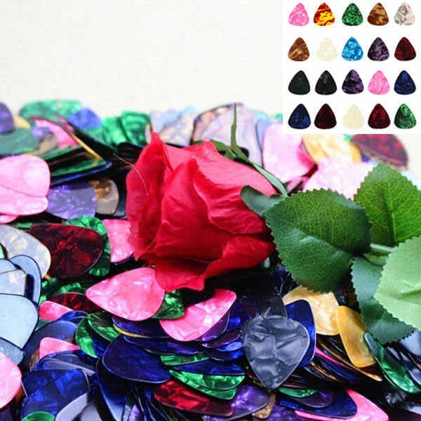 10/20 Pcs New Acoustic Picks Plectrum Celluloid Electric Smooth Guitar Pick Accessories 0.46mm 0.71mm 0.96mm N66
