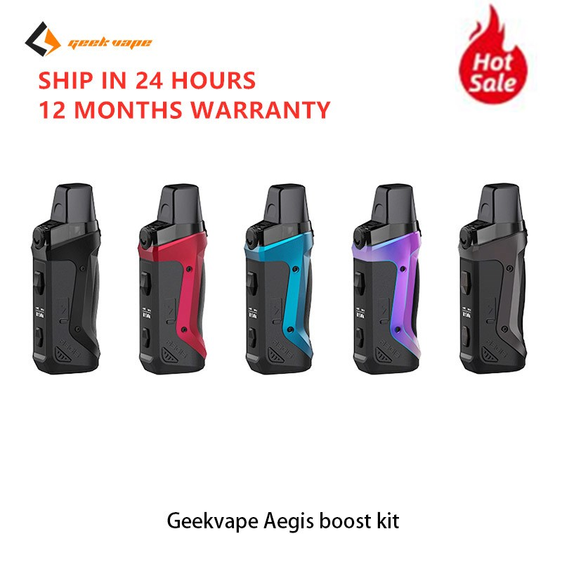 Geekvape Aegis Boost Kit Vape Pod System 1500mah Built-In Battery 40W With 3.7ml MTL DTL E Cigs Vape Kit VS VOOPOO Vinci
