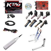 KTAG V 7 020 KESS ECU Programmierung Werkzeug Unbegrenzte Token Rote LED BDM Rahmen Adapter ECU Chip Tuning V 5 017 Master online EU Version