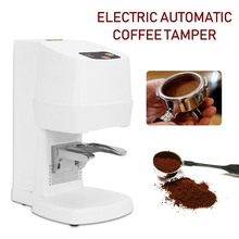 58MM Automatic White Coffee Tamper Commercial Electric Adjustable Coffee Exceed 1500 Times Stainless Steel 100W