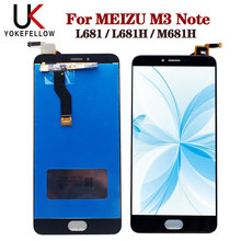 شاشة الكريستال السائل ل Meizu M3 ملاحظة L681 L681H M681h شاشة الكريستال السائل شاشة رقمية كاملة الجمعية ل Meizu M3 ملاحظة عرض LCD