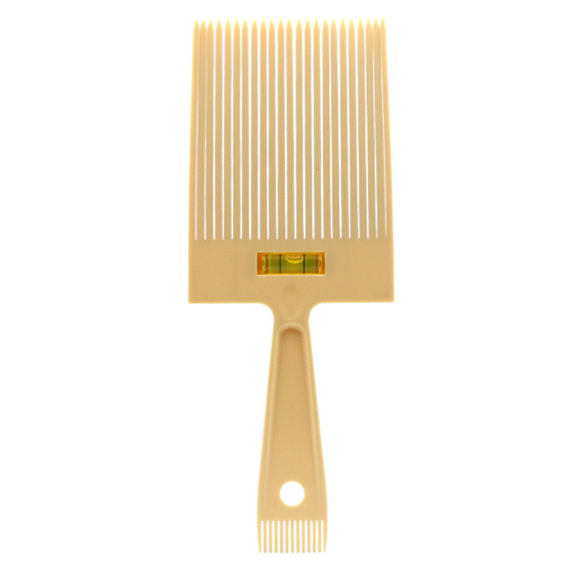 Flat Top Guide Comb With Liquid Bubble Level Flattop Hair Flattopper Beige