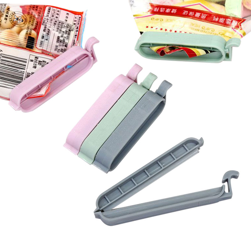 Portable Plastic Bag Sealer 12Pcs set Storage Food Snack Sealing Bag Clips Home Seal Clamp Food Clip Kitchen Tool Accessories in Bag Clips from Home Garden