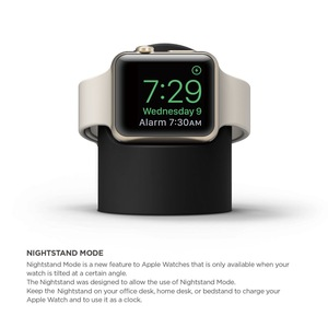 Image 3 - Charger Stand Mount Silicone Dock Holder for Apple Watch Series 4/3/2/1 44mm/42mm/40mm/38mm Charge Cable