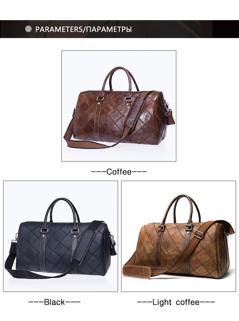 WESTAL leather duffle bag men's travel bag leather vintage weekend bag men's travel bags genuine leather luggage/overnight tote 3