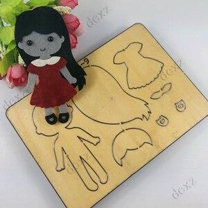 Image 5 - Matrices de découpe en bois pour filles Scrapbooking, compatibles avec la plupart des machines de découpe, nouvelle collection C 236 9