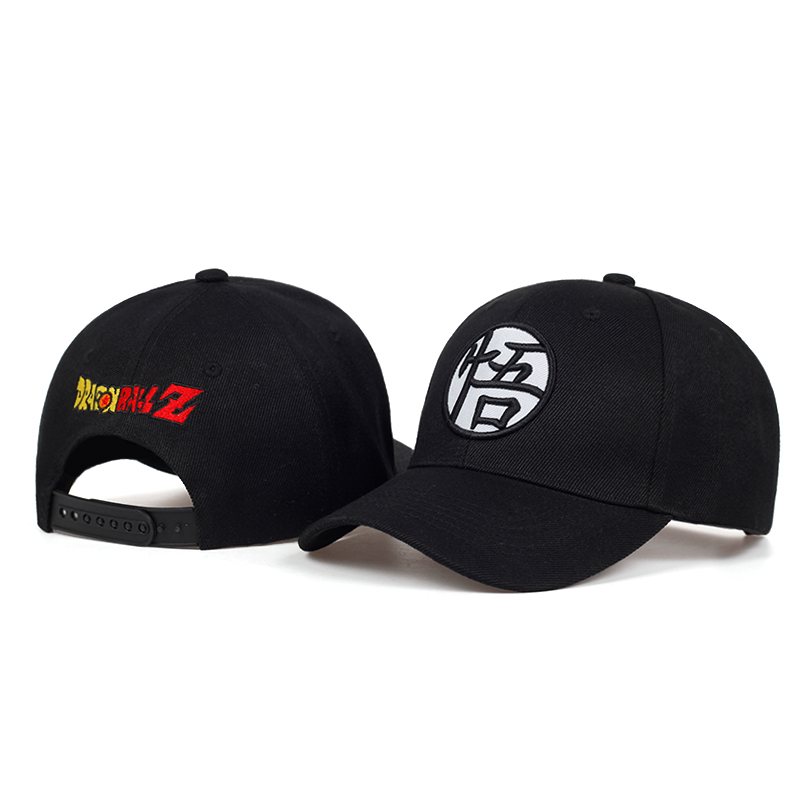 Fashion Dragon Ball Animation Cap 3D Embroidery WU Snapback Baseball Caps Cotton Adjustable Hip Hop Hat All Matched