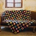 Оригинальное вязаное крючком одеяло ручной работы, крючком, вязаное крючком одеяло, подушка, фетр, пасторальный стиль, бабушка, квадратный