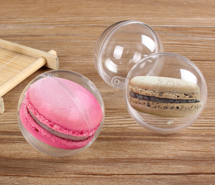 5cm diamètre clair boule de cristal boîte à bonbons ronde boîte de cadeau de mariage boîte douce Macaron bonbons faveurs de mariage fête de douche de bébé