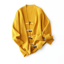 Осенне зимний кашемировый свитер большого размера простой с