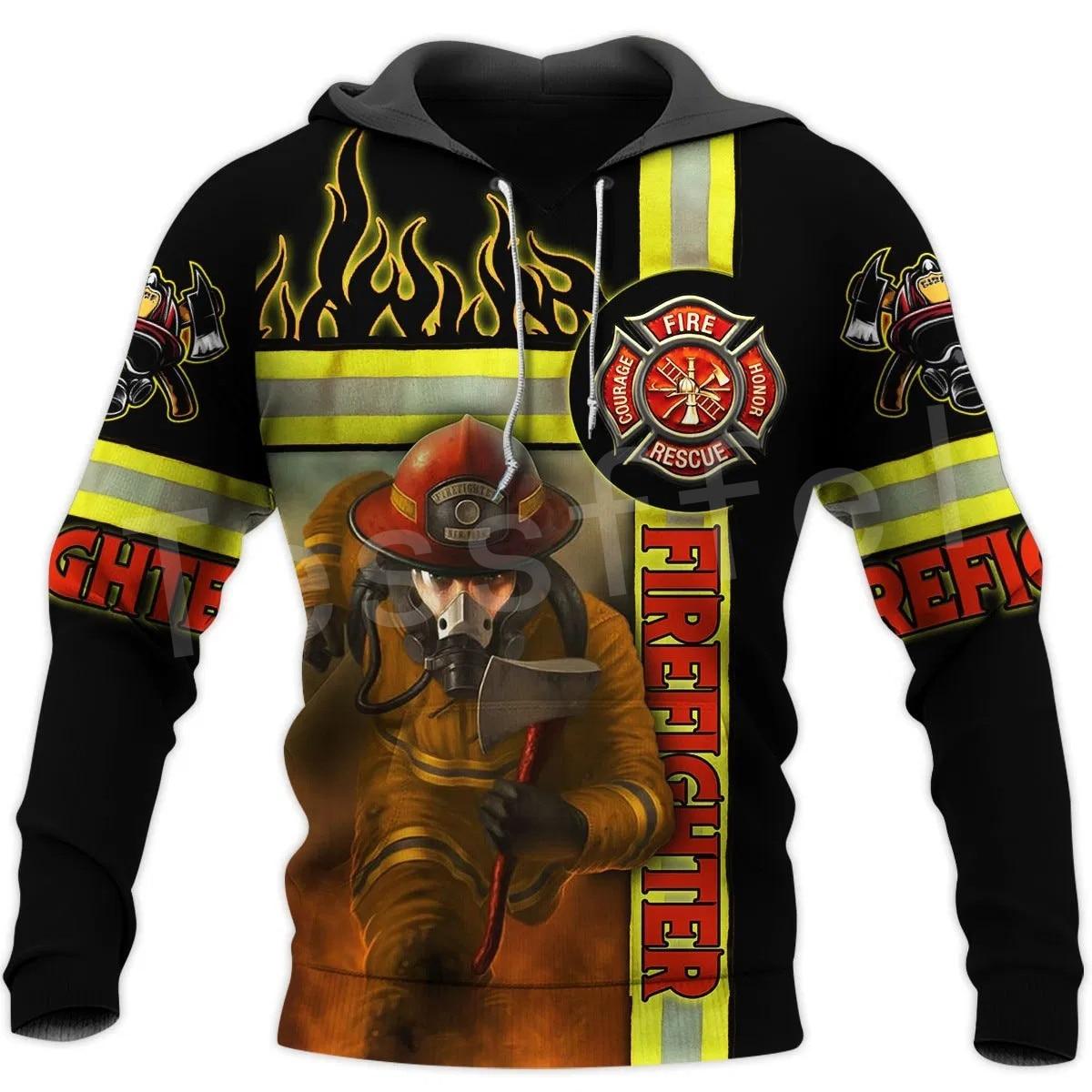 Tessffel Firefighters Suit Firemen Hero Harajuku Pullover NewFashion Funny Unisex 3DPrint Zipper/Hoodies/Sweatshirts/Jacket A-19