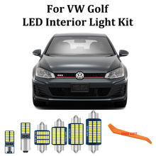 100% branco livre de erros canbus led para volkswagen vw golf 4 5 6 7 mk4 mk5 mk6 mk7 gti led interior cúpula tronco caixa luva luzes kit