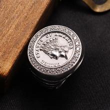 خاتم الآيرلندي الحقيقي 925 فضة مويسانيتي خواتم للرجال حفلة خمر نقش مجاني دروبشيب