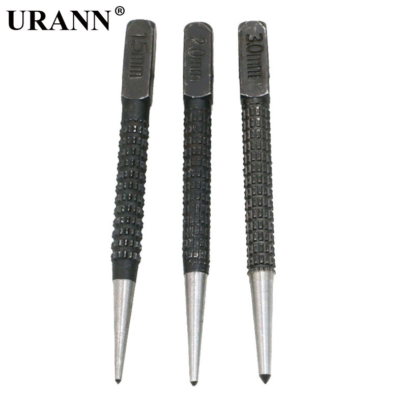 3pc 1.5/2.0/3.0mm Non Slip Center Punch Alloy Steel 3/32