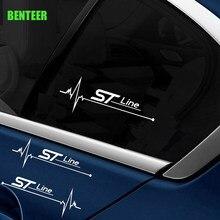 2pcs st stline carro windows adesivo para ford focus mk3 mk4 kuga